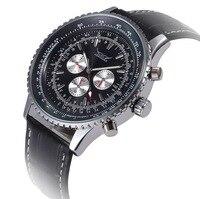 פונקצית הכרונוגרף 6 ידיים 24 שעות יוקרה שעונים לגברים למעלה מותג גברים ספורט שעון סיליקון Masculino Relogio שעון צבאי