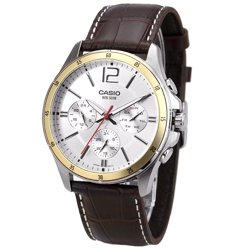 Image 2 - Casio Watch Pointer Series Multi function Chronograph Men's Watch MTP 1374L 7A-in Quartz Watches from Watches