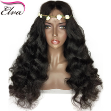 Elva Hair 180% Density 360 Lace Frontal Wig Pre Plucked With Baby Hair 10″-22″ Body Wave Natural Color Brazilian Remy Hair Wigs