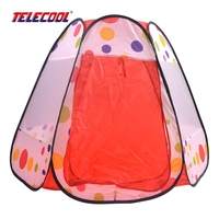 TELECOOL Baby Play Tent Child Indoor Outdoor Cute Cow Polka Dot Play House Portable Great Gift