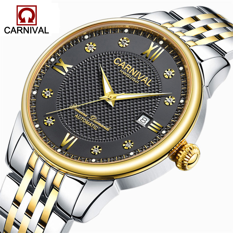 2018 New Mens Watches Top Brand Luxury Automatic Mechanical Watch Casual Stainless Steel Sapphire Waterproof Wristwatch Men men mechanical watches men s watch best luxury brand 2017 new burei male steel band hour sapphire waterproof wristwatch hot sale