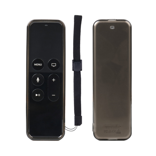Protective Remote Case Mini TV Remote Control With Soft Clear TPU Protective Case Sleeve Cover for Apple TV 4th Remote Case
