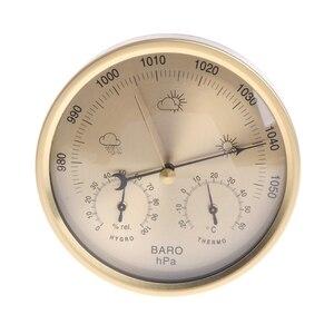 Image 1 - 5 אינץ ברומטר מדחום מדדי לחות קיר רכוב ביתי תחנת מזג מדחום מדדי לחות