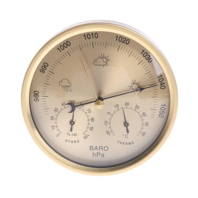 5 אינץ ברומטר מדחום מדדי לחות קיר רכוב ביתי תחנת מזג מדחום מדדי לחות