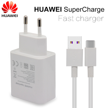 HUAWEI Fast Charger For Mate 9 10 Pro P10 Plus Supercharge Quick Travel Wall Adapter 4.5V5A/5V4.5A Type-C 3.0 USB Cable 1M