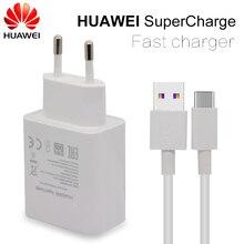 Chargeur rapide HUAWEI pour Mate 9 10 Pro P10 Plus Supercharge adaptateur mural de voyage rapide 4.5V5A/5V4. 5A type c 3.0 câble USB 1 M