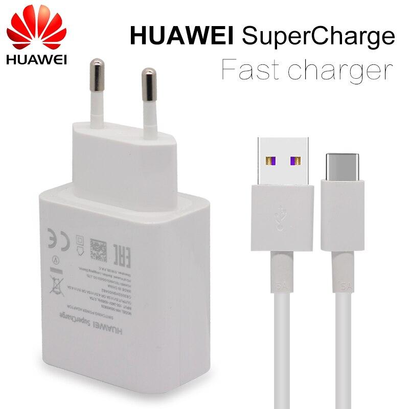 HUAWEI Cargador rápido para Mate 9 10 Pro P10 Plus Supercharge rápido de pared de viaje adaptador 4.5V5A/5V4. 5A tipo-c 3,0 Cable USB 1 m