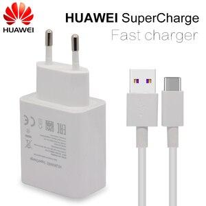 Image 1 - Huawei carregador rápido para mate 9 10 pro p10, adaptador de parede para viagem rápida, 4,5v 5a/5v4.5a c 3.0 cabo usb 1m