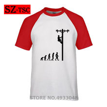 850aa61c 2019 High quality Evolution of Lineman Funny Electrician T Shirt Gift New  Summer Printed Unisex Fashion