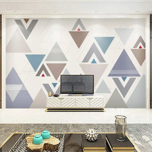 Home Decor Living Room Custom Any Size Mural Wallpaper Colored Geometric Pattern TV Backdrop Bedroom Photo Wall Paper 3D custom 3d poster wall paper modern high quality living room sofa bedroom tv backdrop mural paintings wallpaper motorcycle rider