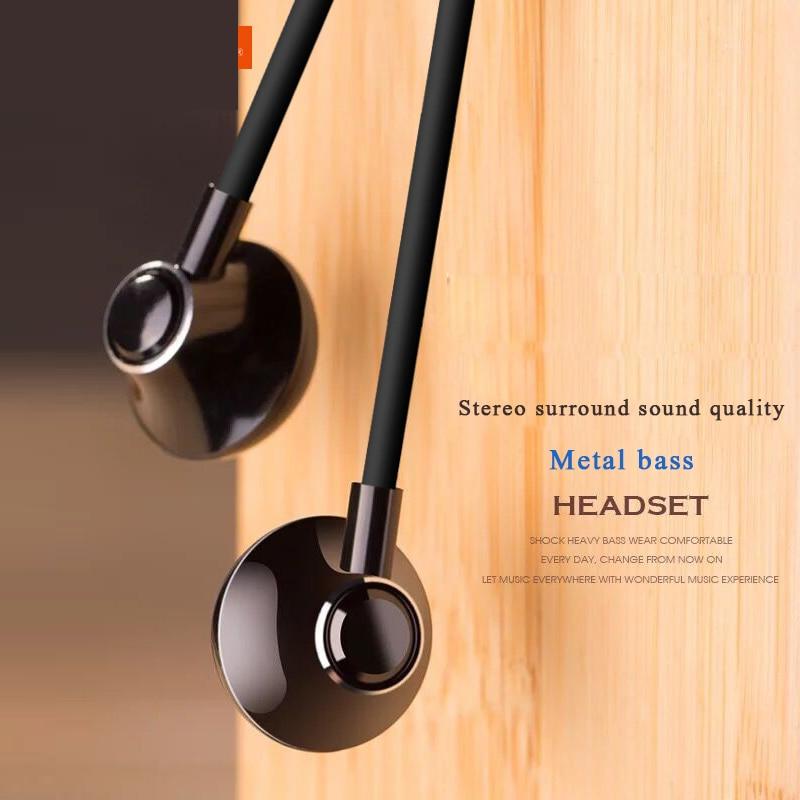 """3.5 מ""""מ סטריאו מוסיקה אוזניות נייד בס אוזניות אוזניות קווית בתוך אוזן אוזניות עם מיקרופון עבור Xiaomi עבור טלפון חכם universell"""