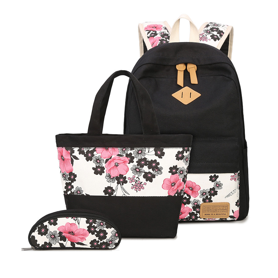 3 шт. школьные сумки для девочек в китайском стиле с цветочным принтом рюкзак девушка школьный цветок мешок этнические рюкзаки для девочек-п...