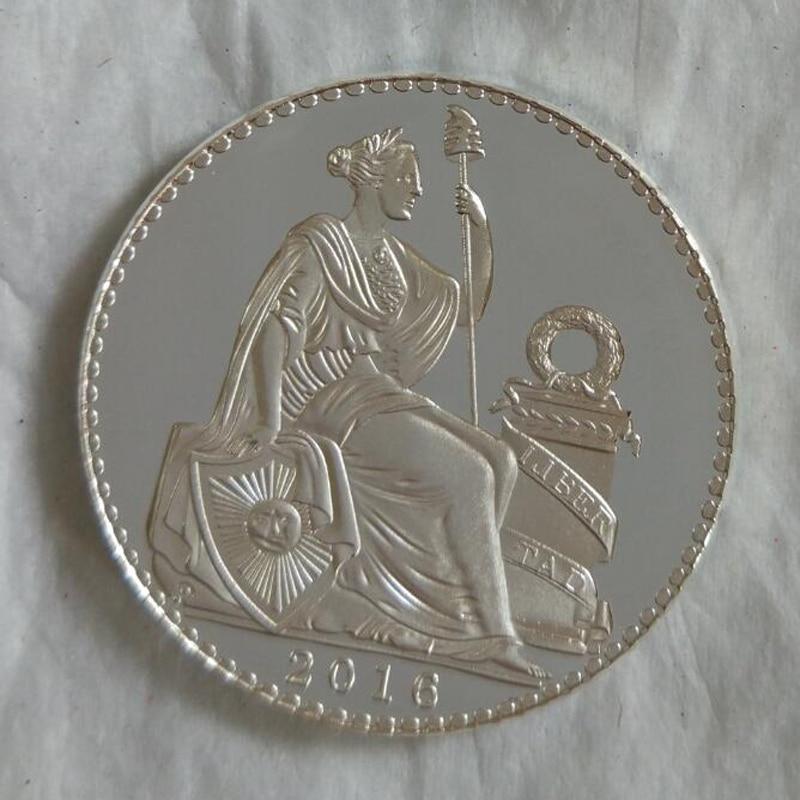 1 Pz Perù Statua Della Libertà Monete Del Nastro Dea Copia Moneta Monete Souvenir Metallo Mestiere Gli Ordini Sono Benvenuti