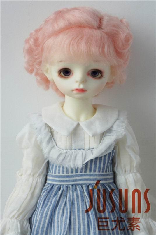 JD250 9-10inch 23-25cm mohair doll wig Blyth Baby short curly BJD wigs 1 3 1 4 1 6 1 8 1 12 bjd wigs fashion light gray fur wig bjd sd short wig for diy dollfie