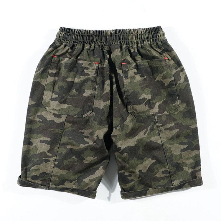 Aolamegs Camouflage Shorts Men Military Style Casual Camo Shorts Men\`s Summer New Fashion Streetwear Elastic Waist Beach Shorts (12)