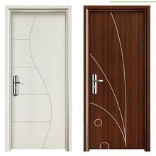 Modern Hotel Waterproof Wpc Pvc Bathroom Door Fancy Design In