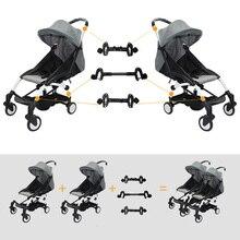 3 sztuk łącznik Bush wstaw wózki Adapter złącza dla Babyzen Yoyo wózek spacerowy dziecięcy Yoya do Twins wózek wózek
