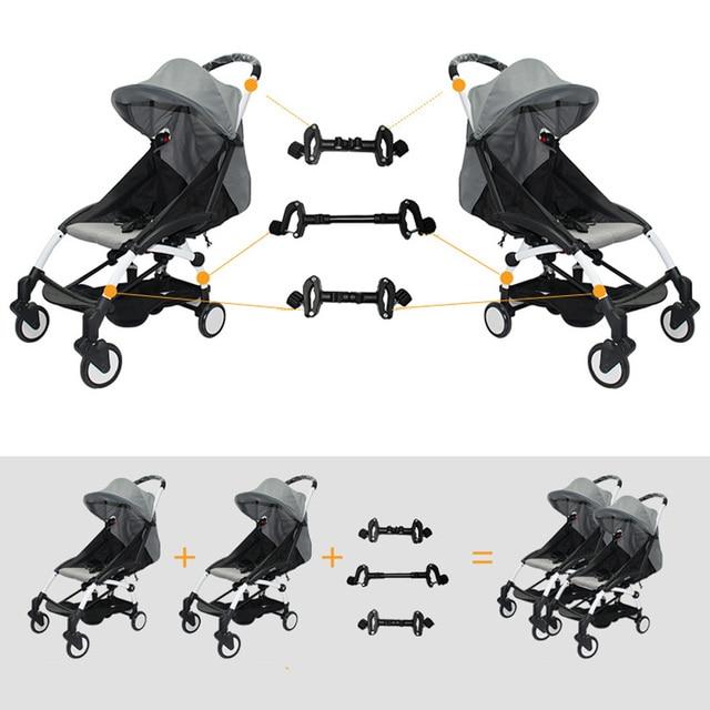 3pcs Coupler Bush Insert Strollers Connector Adapter For Babyzen Yoyo Baby Yoya Stroller Into Twins Pram Carriage