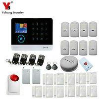 YoBang Beveiliging Draadloze Wifi GSM GPRS Rfid Alarmsysteem Smart Domoticasysteem IOS/Android Toepassing.-in Alarm Systeemkits van Veiligheid en bescherming op