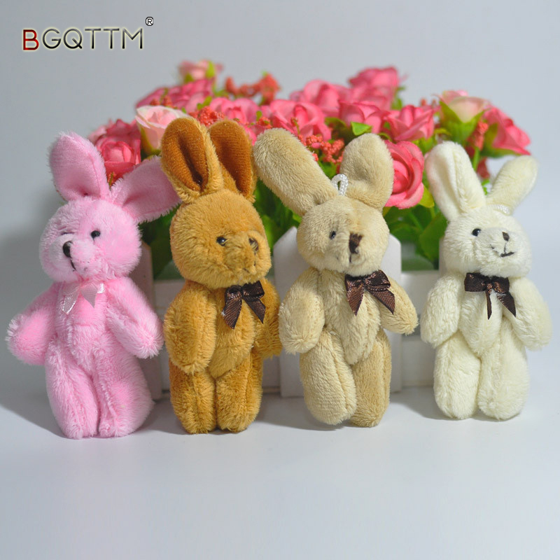 2Pcs/Set Wedding Gift Joint Rabbit Bouquet DOLL TOY DIY Pendant Plush Stuffed TOY Soft Figure Candy Box DOLL TOY 4Colors yoda plush 1pc 922cm star wars figure plush toy aliens yoda soft stuffed plush doll toy kawaii toy for baby