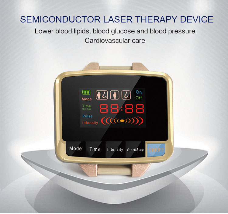 Leawell Physiotherapy healthcare 650nm laser light /wrist Diode low level laser therapy LLLT for diabetes hypertension treatment low level laser light therapy hemodynamic metabolic wrist type pulse laser