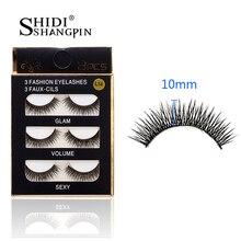 SHIDISHANGPIN 3 Pairs Makeup Maquiagem False Eyelashes Extension lash Crisscross Cilia Cilios Fake Eye Lashes Faux Cils #BL14