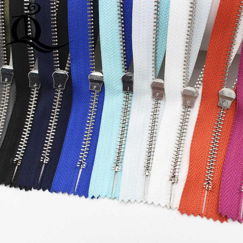 15 centimetri-45 centimetri 5pcs chiuso-End di marca Chiusure Lampo In Metallo Con La Perla Cursore, multi-colore #5 Chiusure Lampo Per FAI DA TE Cucito 10 Colori della miscela Disponibili