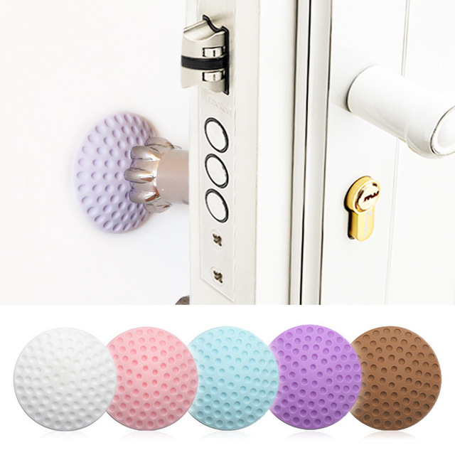 1PCS Wall Thickening Mute Door Stick   Rubber Fender Handle Door Lock Protective Pad Protection Home Wall Stickers