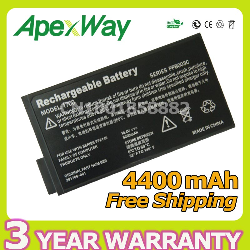 Apexway 14.4V 8 cell Laptop Battery For HP Mobile workstation NW8000 for...