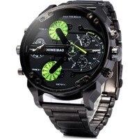 Shiweibao Nowy Marka Mężczyźni Leather Watch Quartz Zegarki Sportowe Dla Mężczyzn Mężczyzna Casual Zegar Wojskowy Zegarek Relogio Masculino Godzin