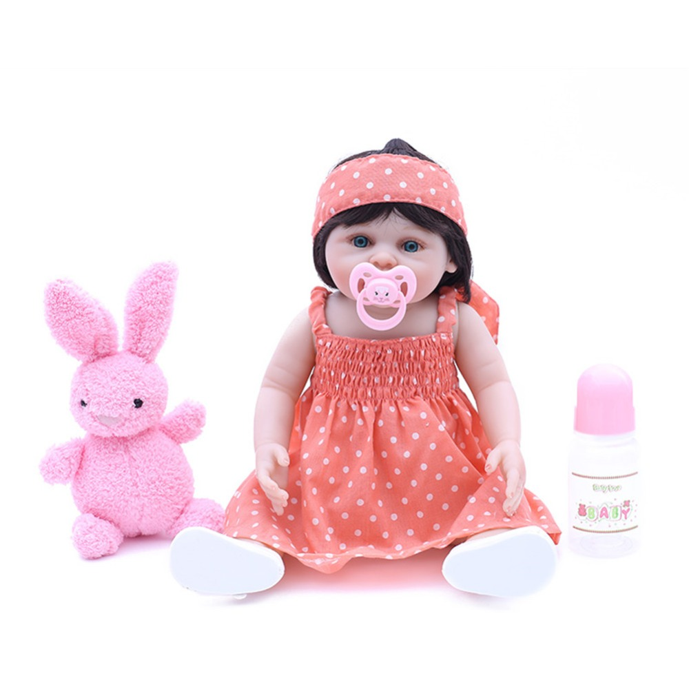 SanyDoll 18 inch 45 cm Silicone baby reborn dolls, lifelike doll  Lovely doll boys and girls holiday gifts birthday giftsSanyDoll 18 inch 45 cm Silicone baby reborn dolls, lifelike doll  Lovely doll boys and girls holiday gifts birthday gifts