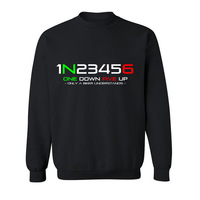 2017 Hot High Quality Cotton 1N23456 Motorcycle Print Funny Hoodies Sweatshirts For Men