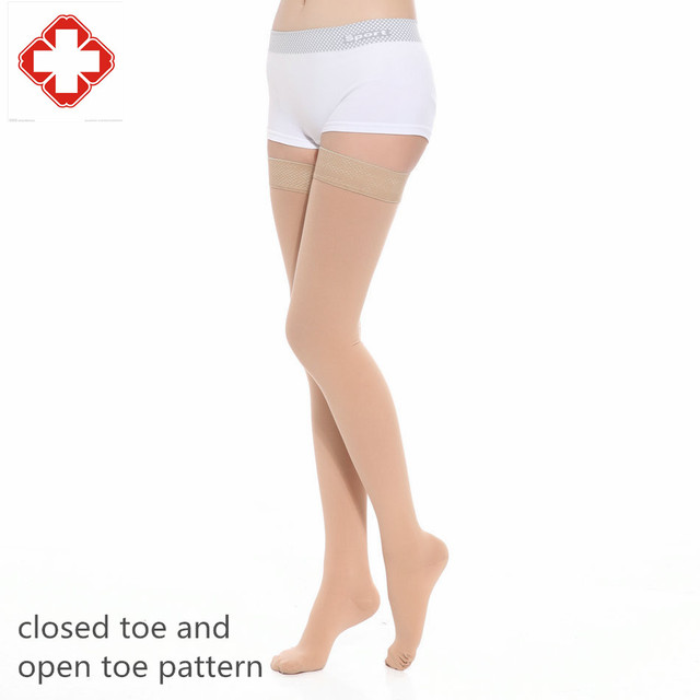 50a424fe287 2016LGFDD922 women CLOSED TOE medical Varices compression sox 40mmHG 30  mmHG MIDDLE pressure Thigh High TUBE