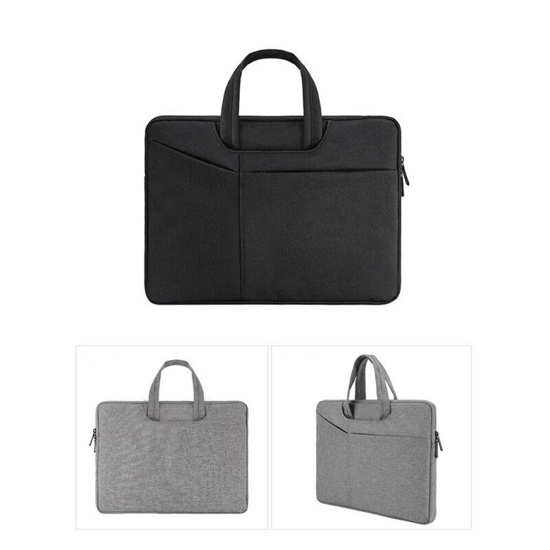 Men Women Unisex Casual Buniness Laptop Briefcases Solid Zipper Protection Waterproof Comvenient 13-15 Inch
