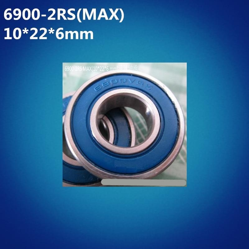 Free Shipping 2pcs ABEC-5 6900-2RSV MAX (10*22*6mm) Full Balls Bicycle Pivot Repair Parts 6900 2RS RSV Ball Bearings 6900-2RS