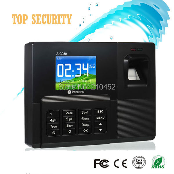 Good quality USB biometric fingerprint time attendance with RFID card reader A/C030 realand