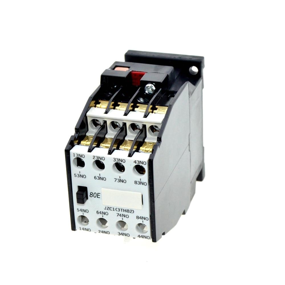 цена на Ith 10A AC Motor Contactor Relay Starter 8NO 24V 48V 110V 220V 380V 50Hz 60Hz Coil Volt Contactors JZC1-80 35mm DIN Rail Mount
