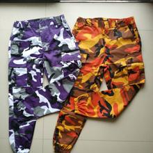 YrightMwrong Orange Camouflage Men Women Sweatpants Purple Pink Gray Camo Trousers