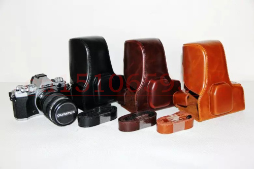 PU Cuir Camera Bag Housse Etui Pour Olympus OM-D E-M5 II OM D OMD E-M5 MARK II EM5II EM5 II avec bandoulière