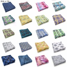 101-120 Man Floral 100% Silk Satin Pocket Square Hanky Jacquard Woven Classic Wedding Party Handkerchief 10 inch 25cm*25cm