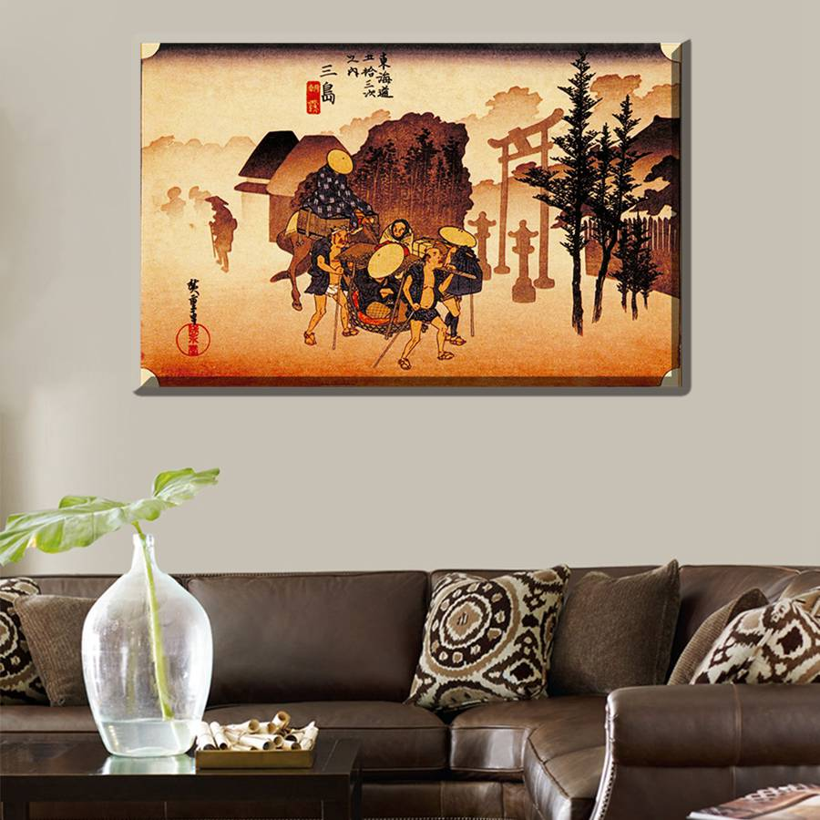 Japan Style Classical Vintage Landscape Painting Print Canvas For Office  Decoration Wall Art Japanese Retro Artwork Best Gift In Painting U0026  Calligraphy From ...