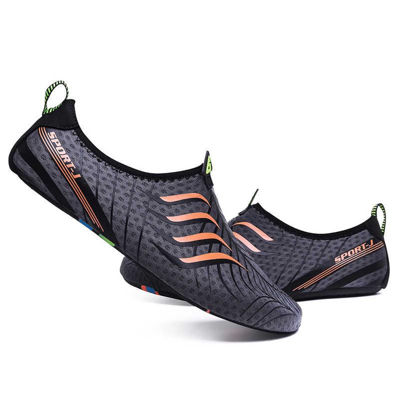 Erkekler kadınlar yüzme ayakkabı Unisex yaz plaj su ayakkabısı terlik çabuk kuru Aqua ayakkabı erkekler Sneakers hafif memba ayakkabı