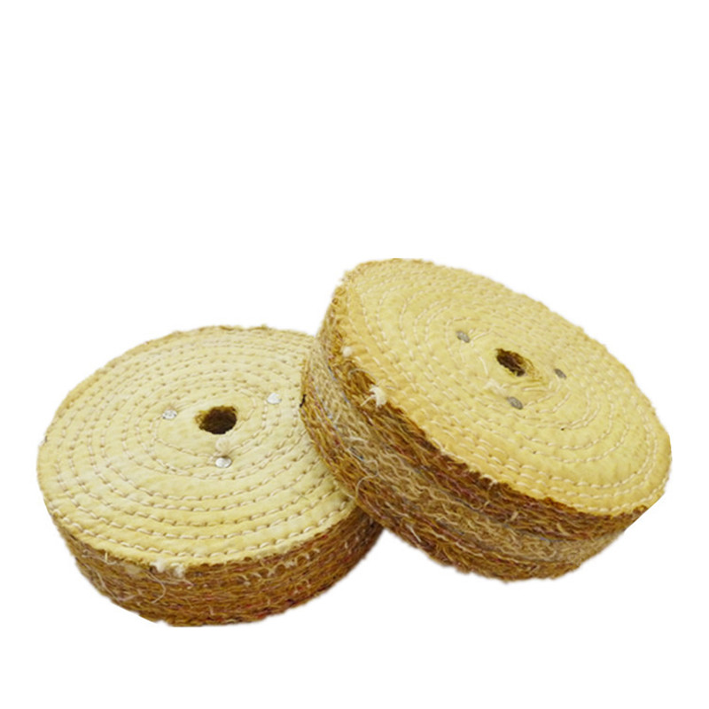 Sisal Cloth 6 Inch Buffing Wheel Polishing Pad For Stainless Steel Metal Polishing Abrasive Tools Mayitr Buffer Rotary Tool newest 1pc cloth polishing wheel buffer pad cotton for buff dremel accessory top quality