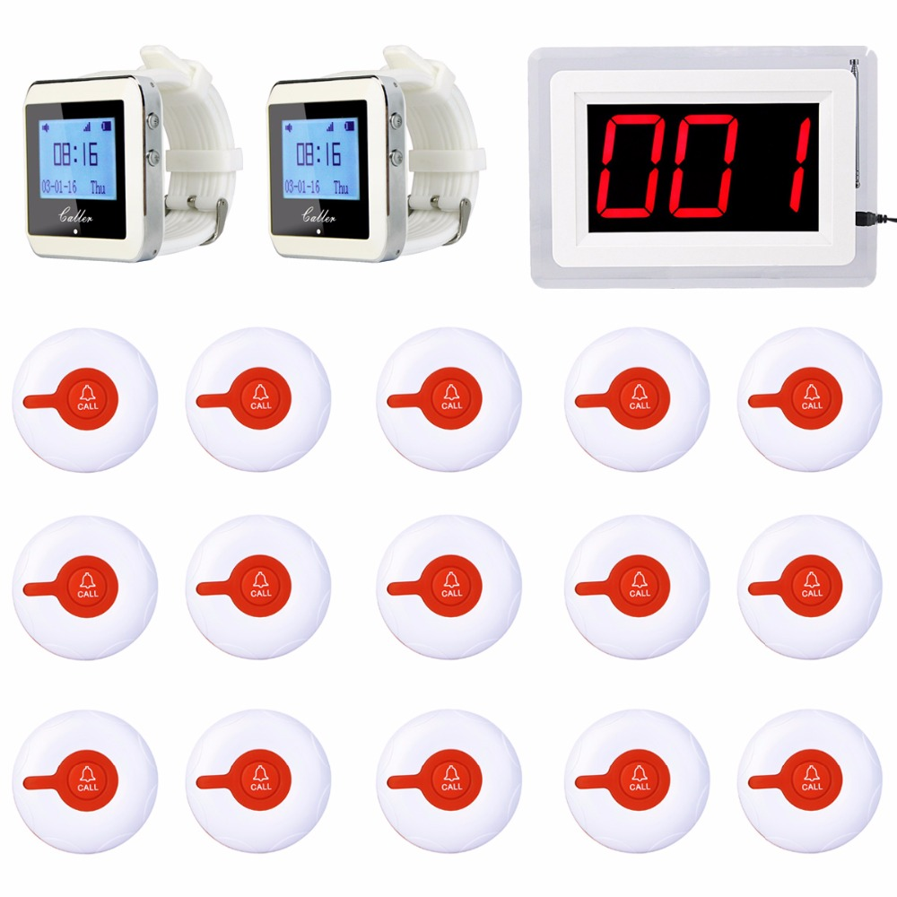 Hospital Nurse Call System Wireless Pagers For Patient 1 Receiver Host +2 Watch Receiver + 15 Call Button Transmitter F3288B hospital nurse call system 10pcs bell buzzer with 6pcs watch receiver can hang on neck