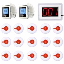 Hospital Nurse Call System Wireless Pagers For Patient 1 Receiver Host +2 Watch Receiver + 15 Call Button Transmitter F3288B