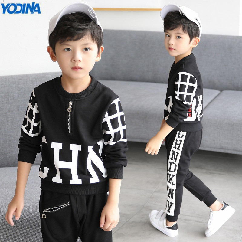 YODINA Children Clothes Autumn Spring Boys Clothing Set School Kids Sport Suit 4-13Y Boys Tracksuit Cotton Sweatshirt+Pants 2pcs
