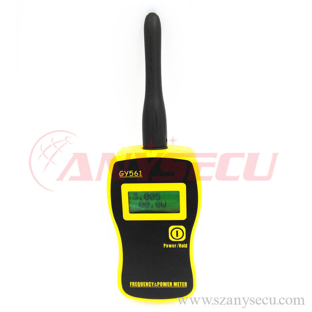 Free shipping new high Quality GY561 +2 test leads Portable Frequency Counter Tester &Power Meter for Two-Way Radio Yellow