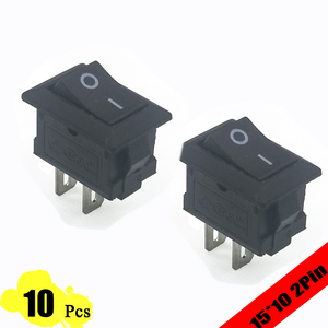 10pcs 15*10mm Copper Feet 2PIN Kcd11 G130 Rocker Switch SPST Snap-in ON/OFF switch Snap 3A/250V MINI Car Dash Dashboard 10*15