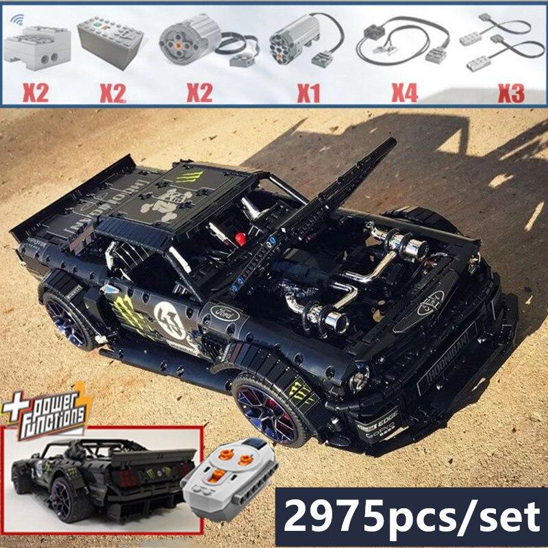 Nouveau 1965 Ford Mustang Hoonicorn voiture de course fit legoings Technic MOC-22970 même que 20102 bloc de construction briques kit enfant jouets cadeau