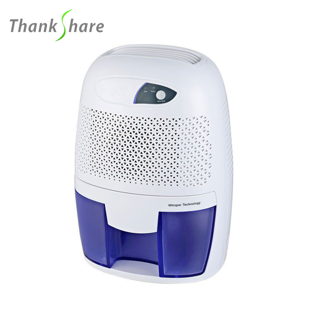 THANKSHARE Ultra mini Semiconductor Dehumidifier Desiccant Moisture Absorbing Air Dryer 500ml For Home Wardrobe